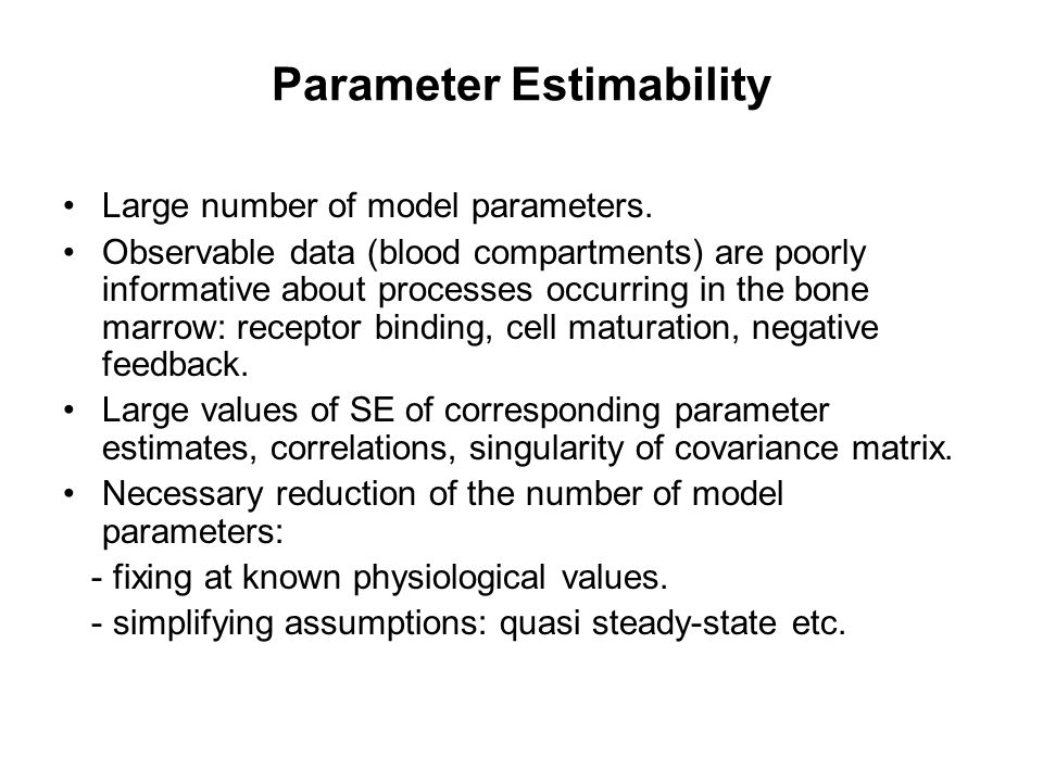 Parameter Estimability