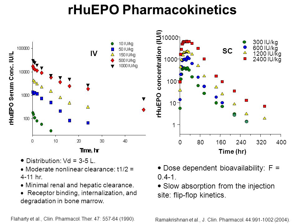 rHuEPO Pharmacokinetics