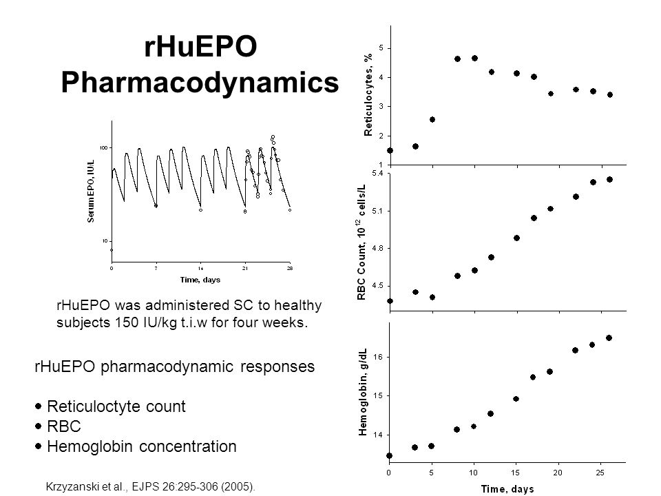 rHuEPO Pharmacodynamics