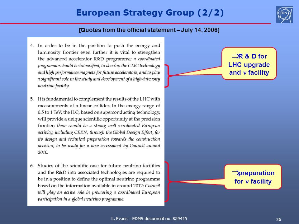 European Strategy Group (2/2)