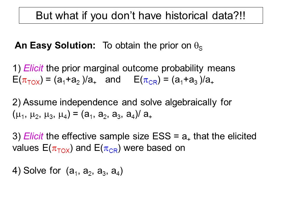 But what if you don't have historical data !!