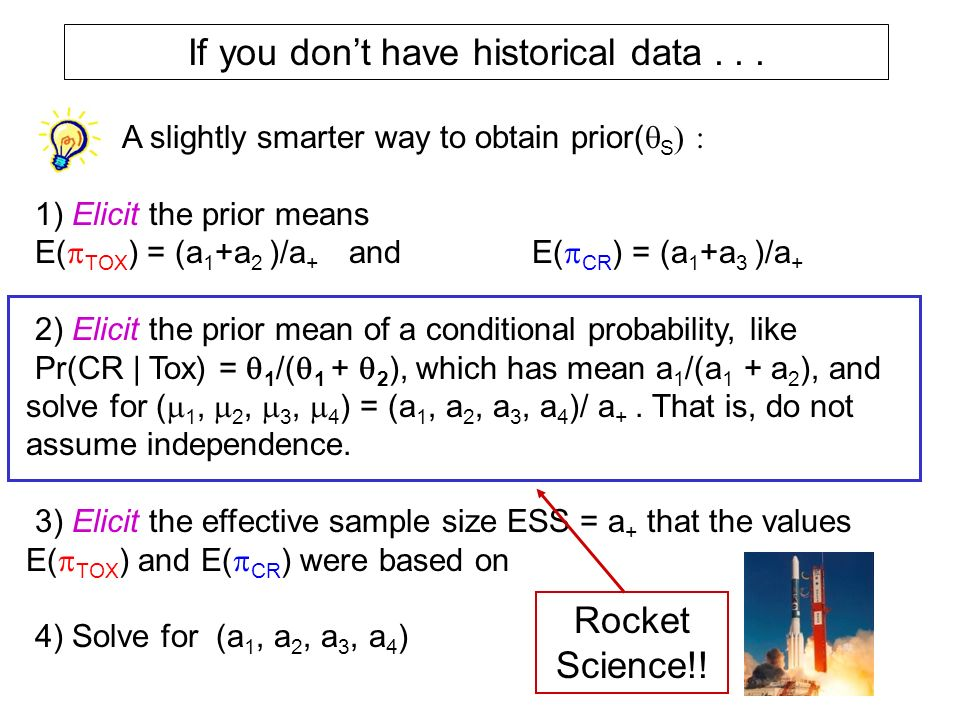 If you don't have historical data . . .
