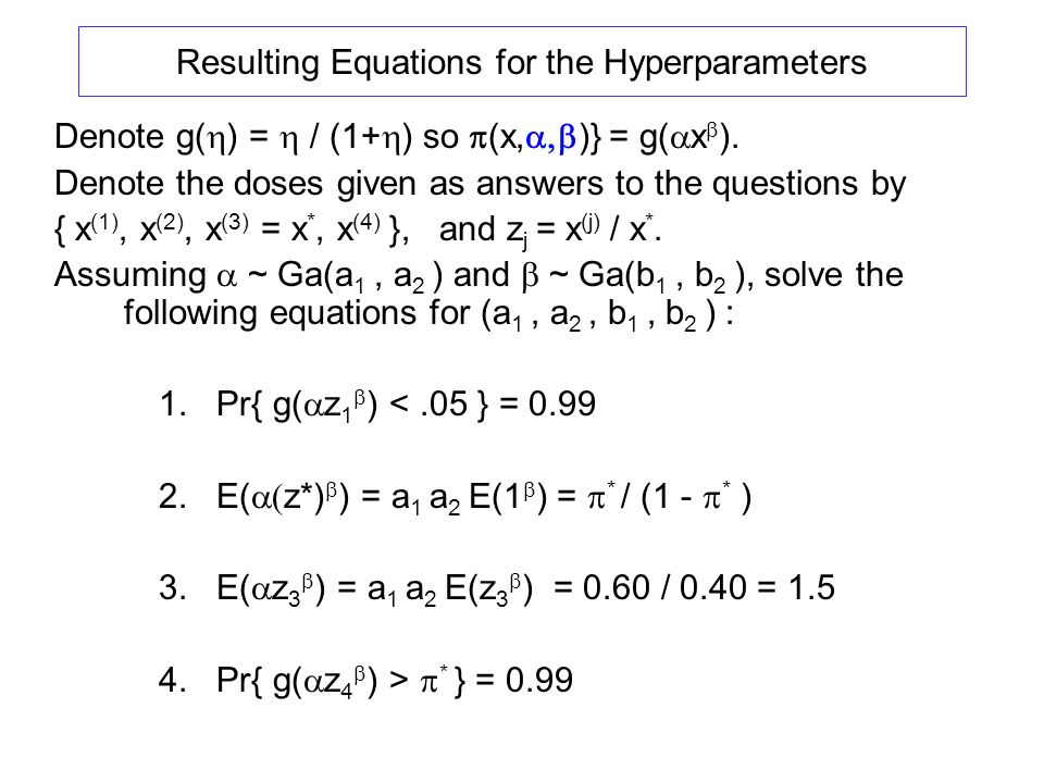 Resulting Equations for the Hyperparameters