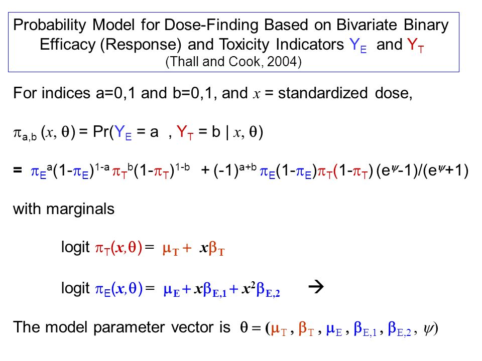 Probability Model for Dose-Finding Based on Bivariate Binary