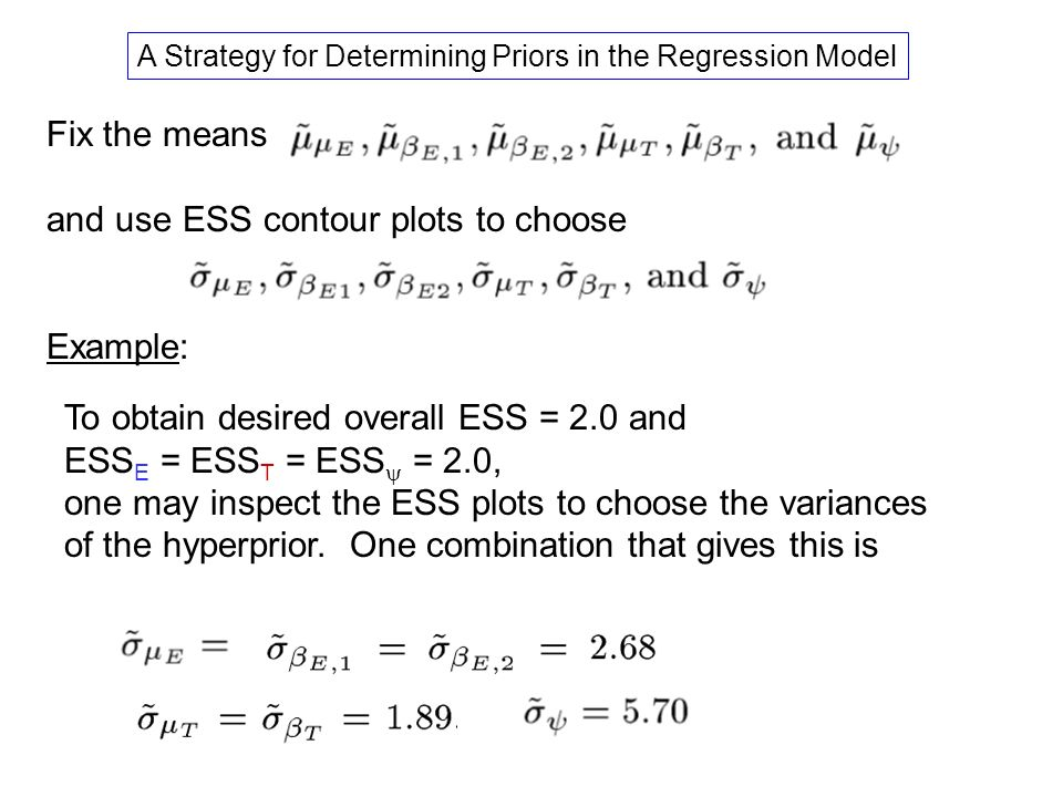 A Strategy for Determining Priors in the Regression Model