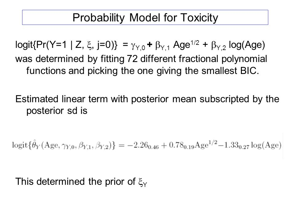 Probability Model for Toxicity
