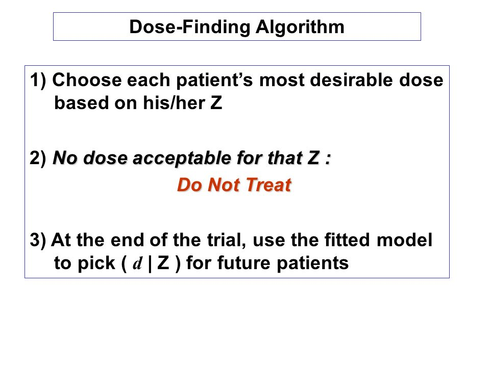 Dose-Finding Algorithm