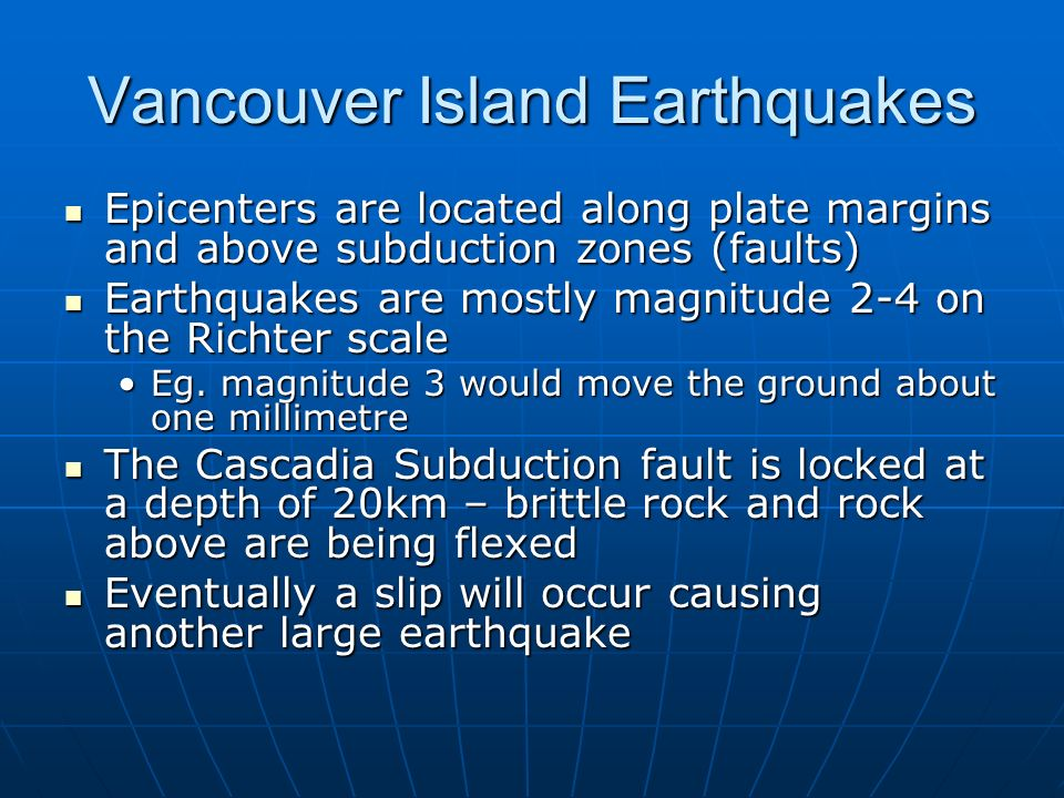 Vancouver Island Earthquakes