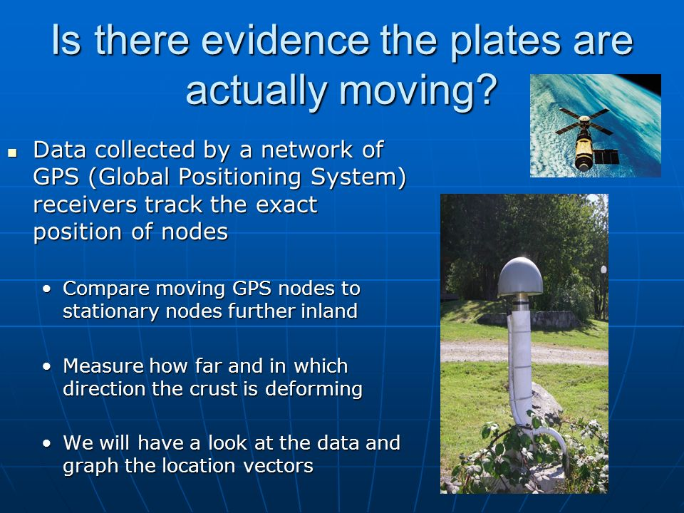 Is there evidence the plates are actually moving