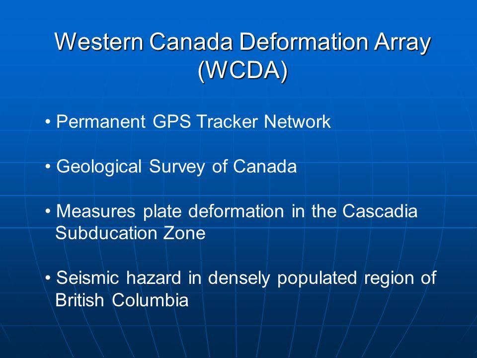 Western Canada Deformation Array (WCDA)