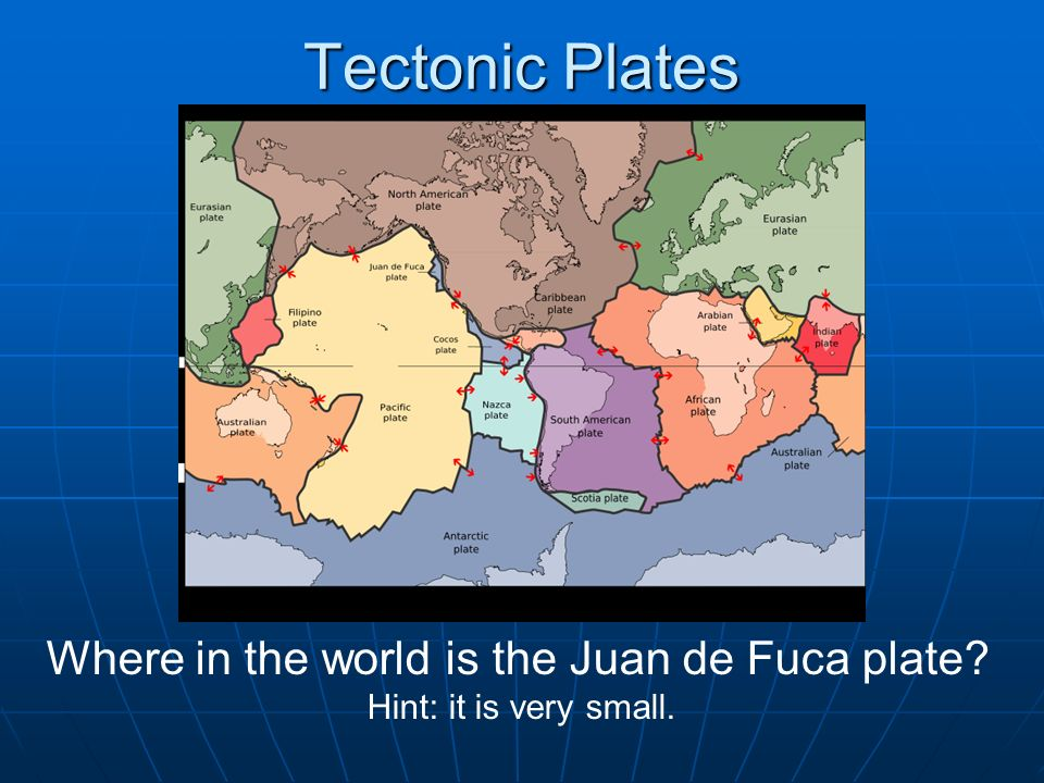 Where in the world is the Juan de Fuca plate