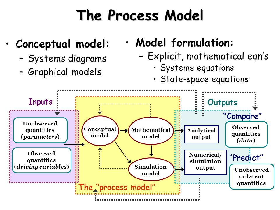 The Process Model Conceptual model: Model formulation: