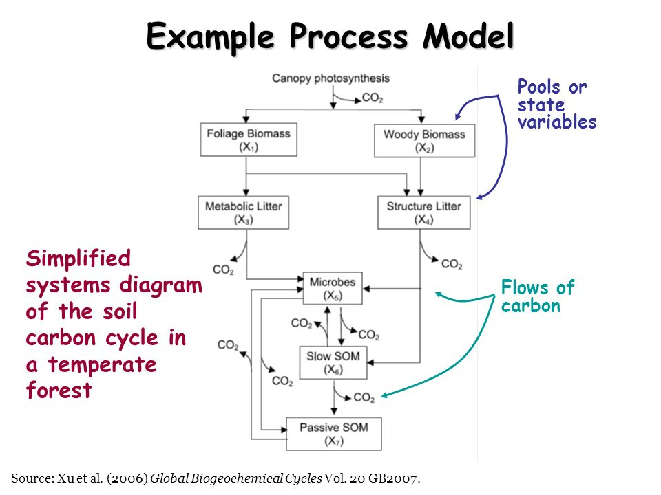 Example Process Model Simplified systems diagram of the soil
