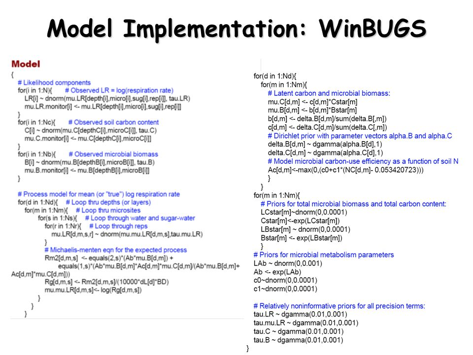 Model Implementation: WinBUGS