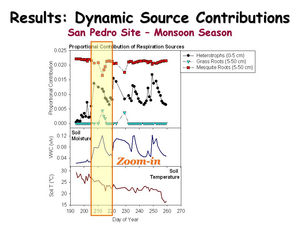 Results: Dynamic Source Contributions San Pedro Site – Monsoon Season