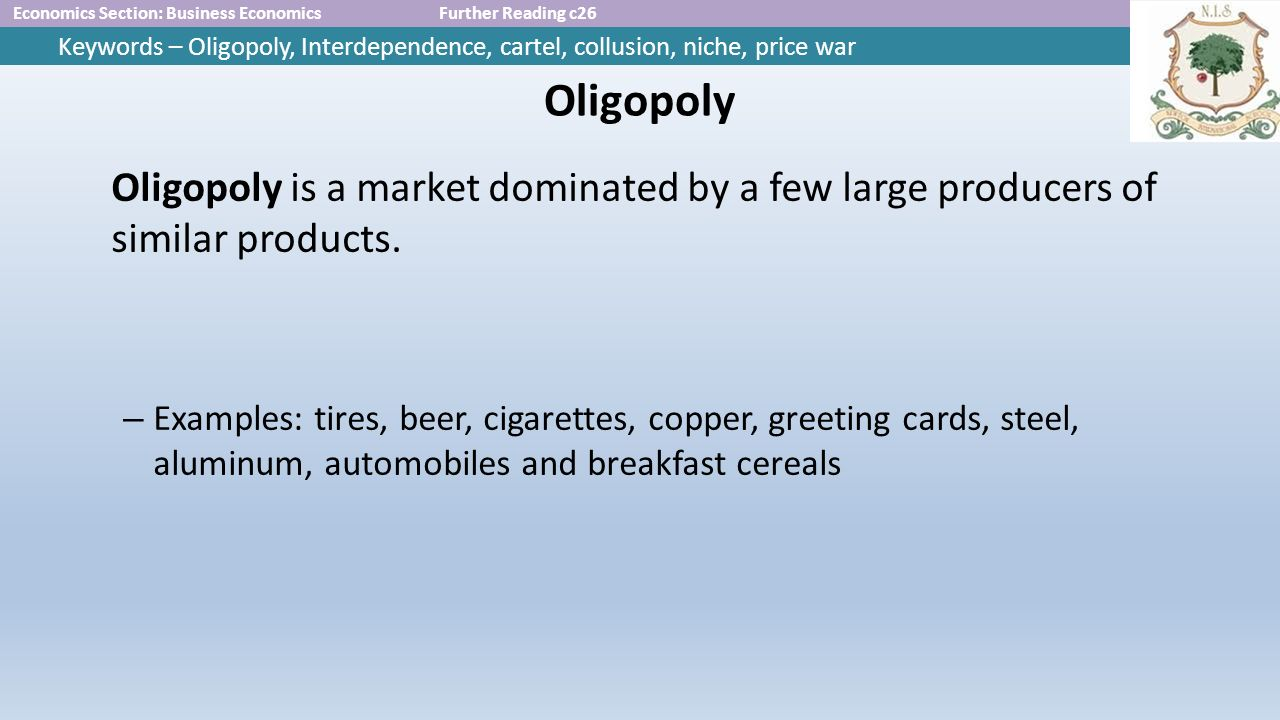 oligopoly mutual interdependence A set of decisions exists that is better than the nash decisions for each and every oligopoly firm decision making with mutual interdependence last modified by:.