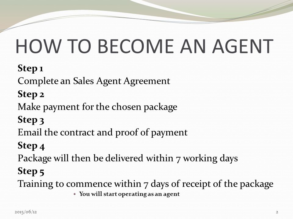 Sales Agent Packages  Ppt Download