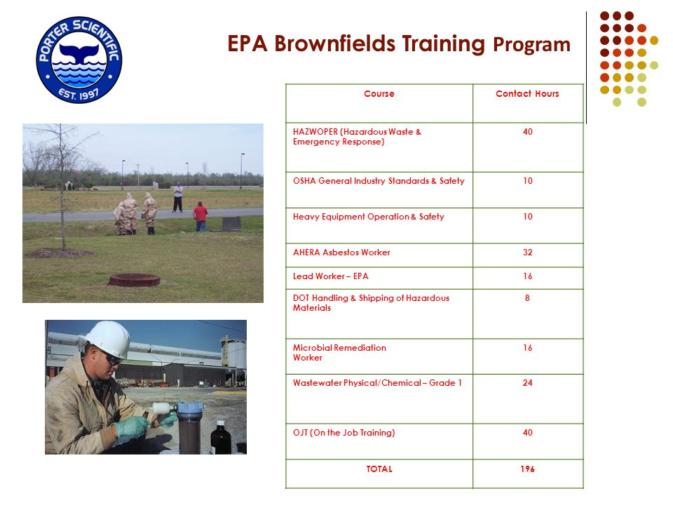 EPA Brownfields Training Program