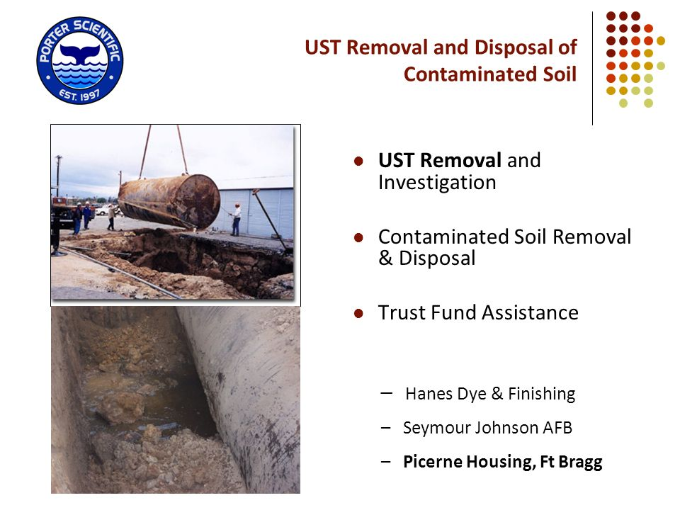 UST Removal and Disposal of Contaminated Soil