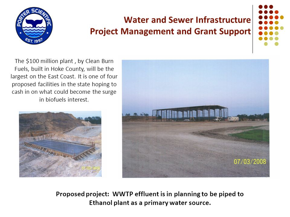 Water and Sewer Infrastructure Project Management and Grant Support