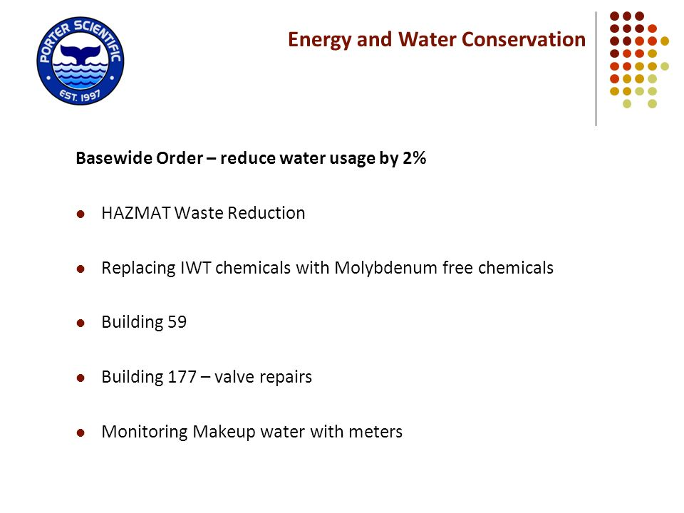 Energy and Water Conservation