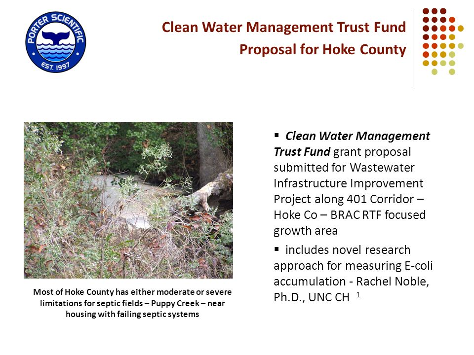 Clean Water Management Trust Fund Proposal for Hoke County