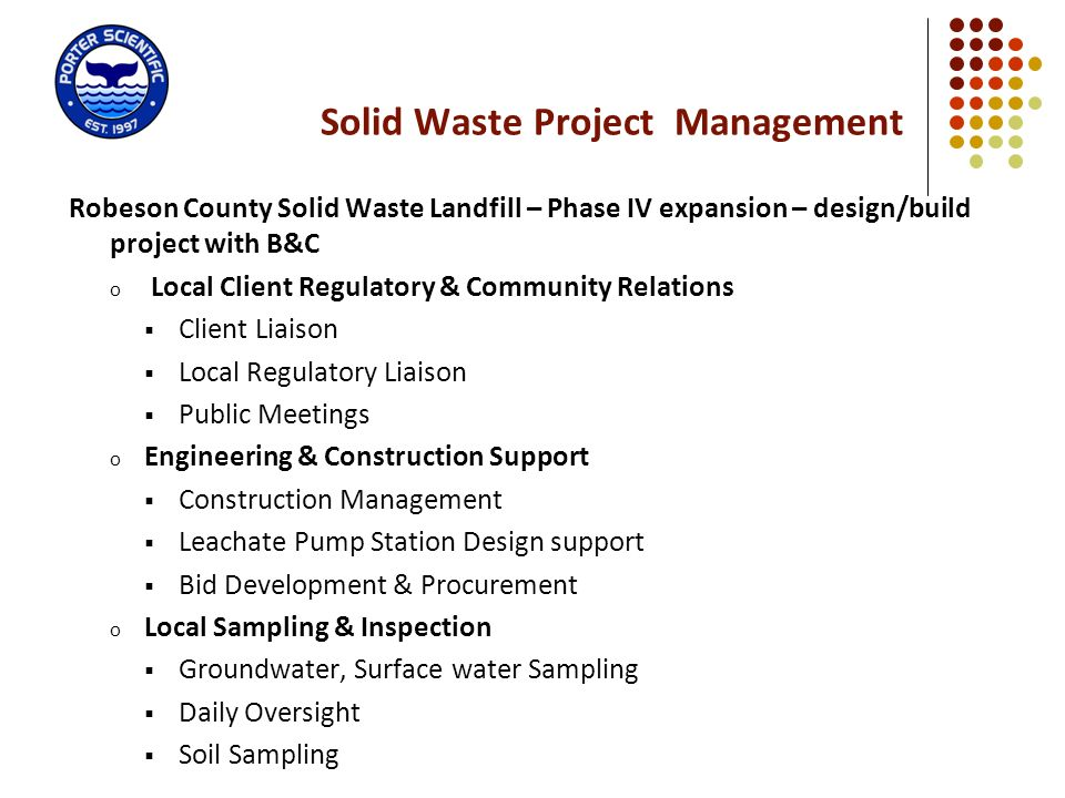 Solid Waste Project Management