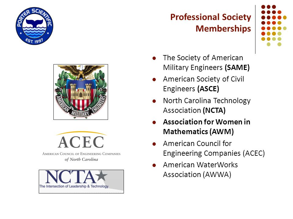 Professional Society Memberships