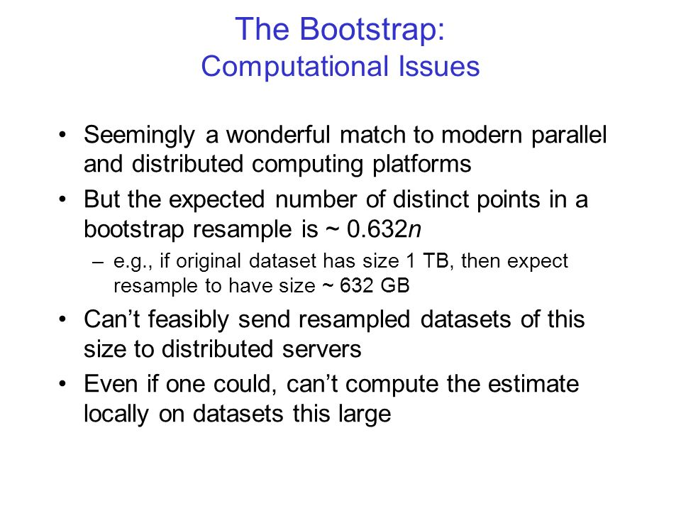 The Bootstrap: Computational Issues