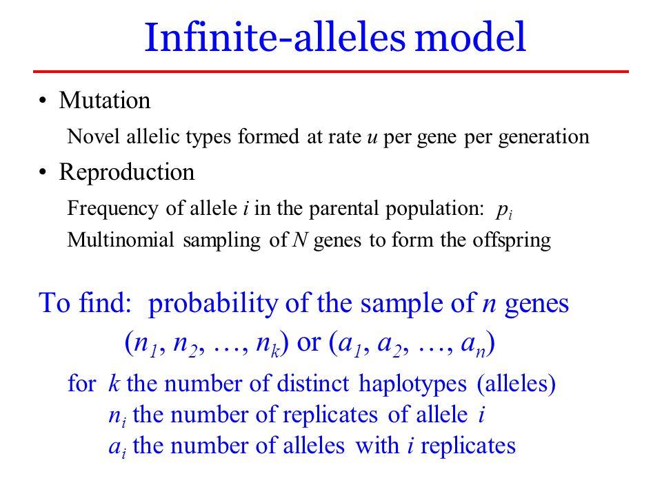 Infinite-alleles model