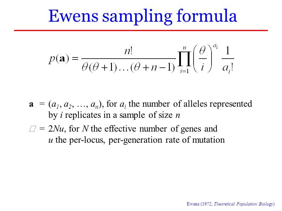 Ewens sampling formula