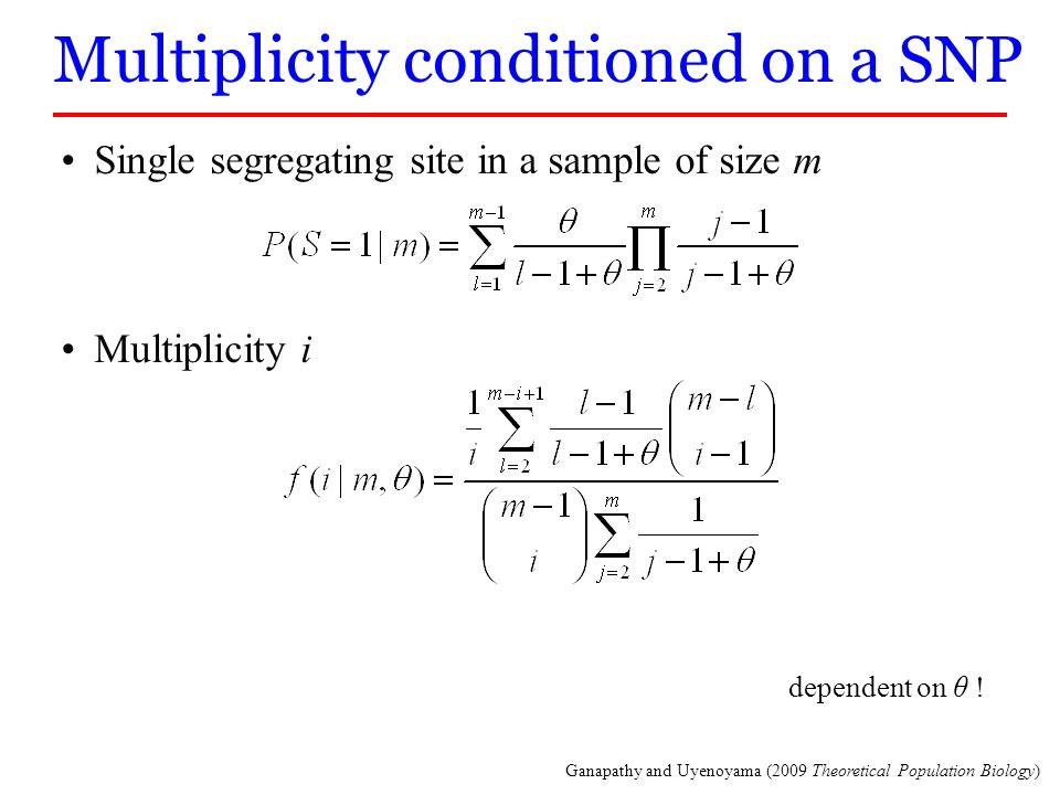 Multiplicity conditioned on a SNP