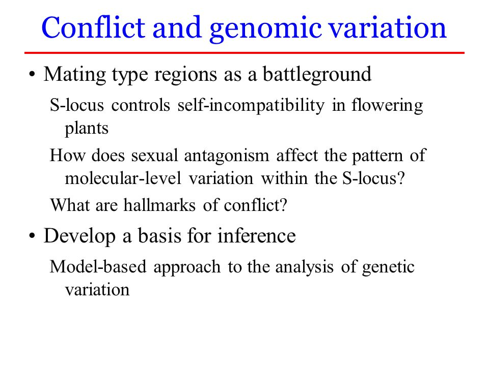 Conflict and genomic variation