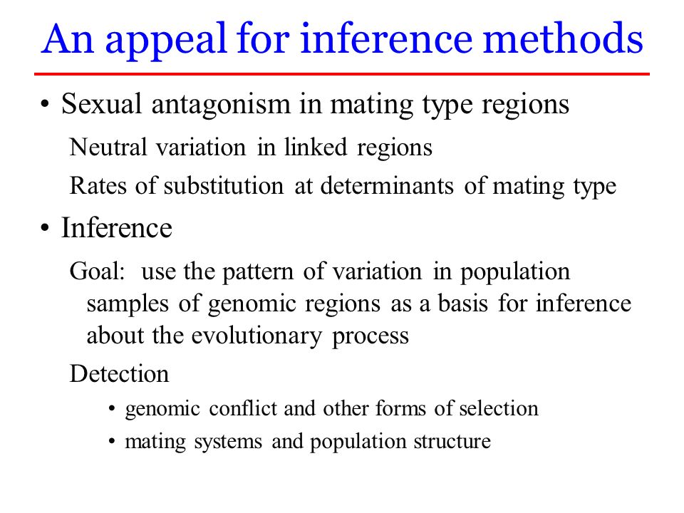 An appeal for inference methods