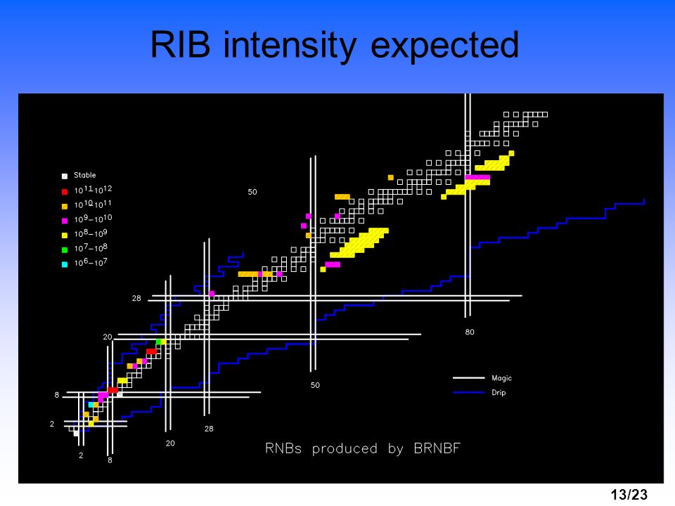 RIB intensity expected