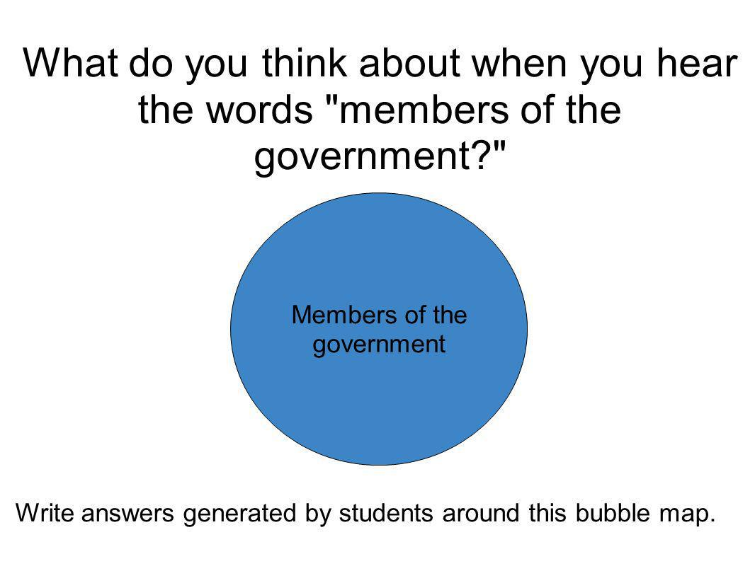 Members of the government