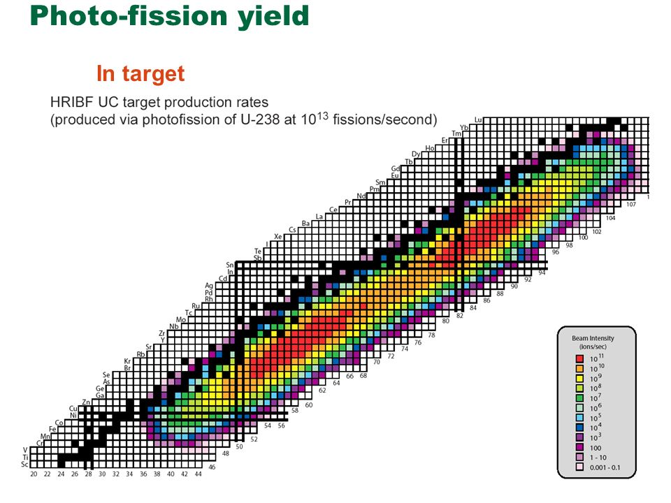 Photo-fission yield In target