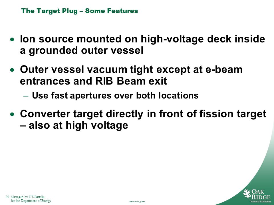 The Target Plug – Some Features
