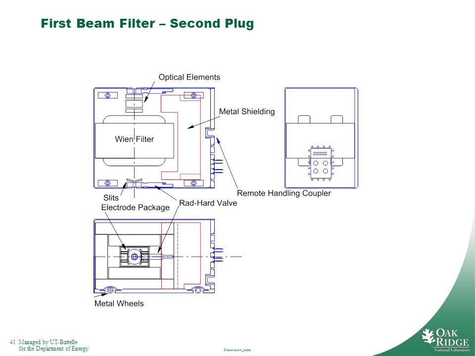 First Beam Filter – Second Plug
