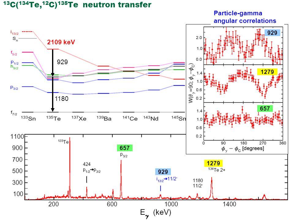 13C(134Te,12C)135Te neutron transfer