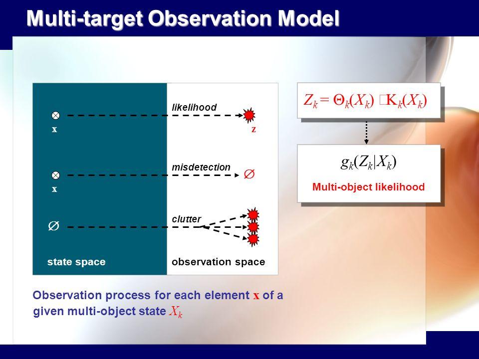 Multi-object likelihood