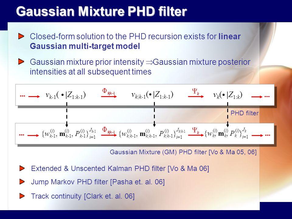 Gaussian Mixture PHD filter