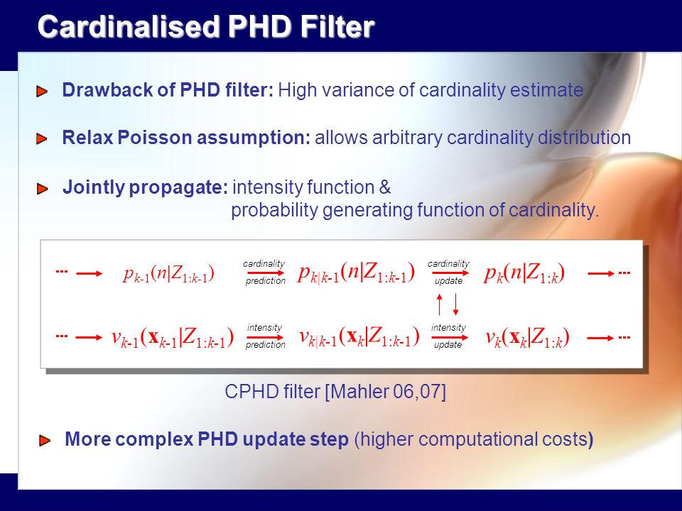 Cardinalised PHD Filter