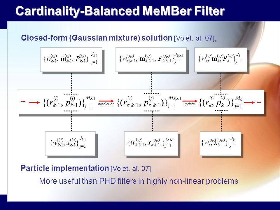 Cardinality-Balanced MeMBer Filter