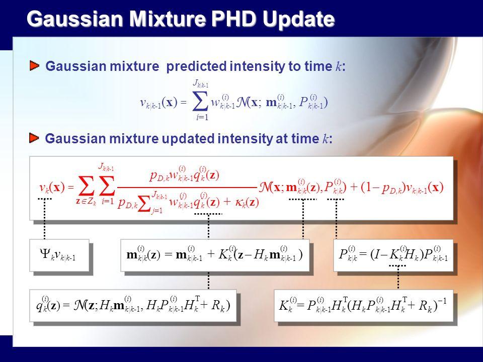 S S S S Gaussian Mixture PHD Update