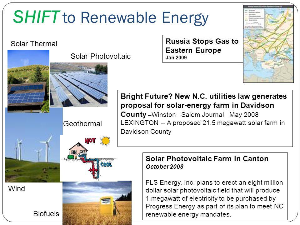 SHIFT to Renewable Energy