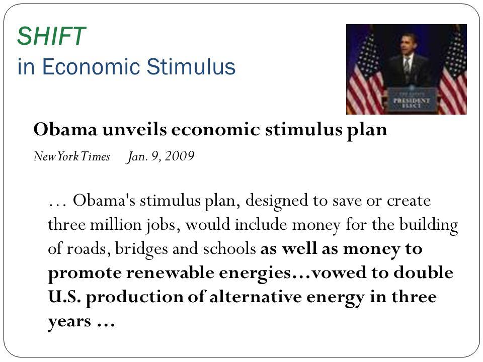 SHIFT in Economic Stimulus