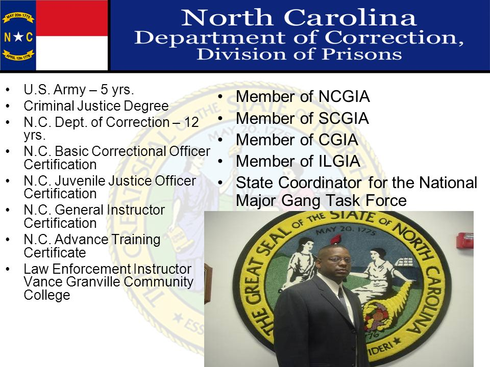 State Coordinator for the National Major Gang Task Force
