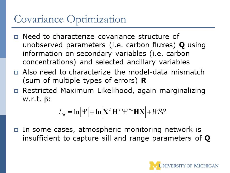 Covariance Optimization