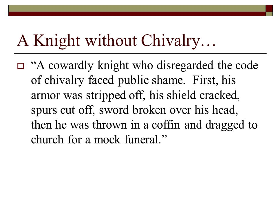 an introduction to the monasticism and the code of chivalry in the middle ages However, the code of chivalry during the medieval era was understood to be a  set of rules that were beyond combat it introduced the concept of gallantry and.